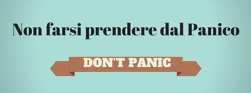 Non farsi prendere dal panico